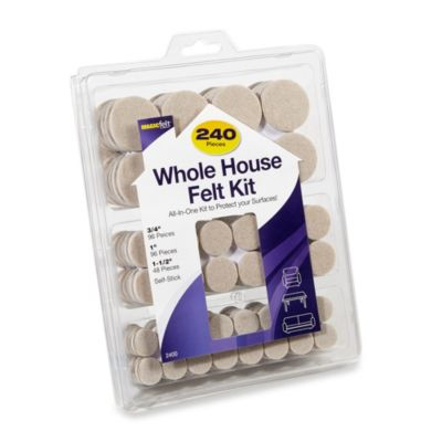240-Count Hardwood and Hard Surfaces Whole House Oatmeal Felt Protectors Kit