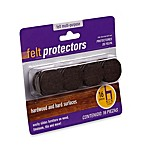 16-Count Hardwood and Hard Surfaces 1 1/4-Brown Felt Protectors