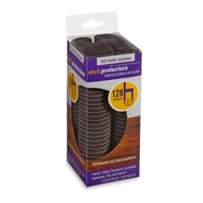 128-Count Hardwood and Hard Surfaces Whole House Brown Felt Protectors Kit
