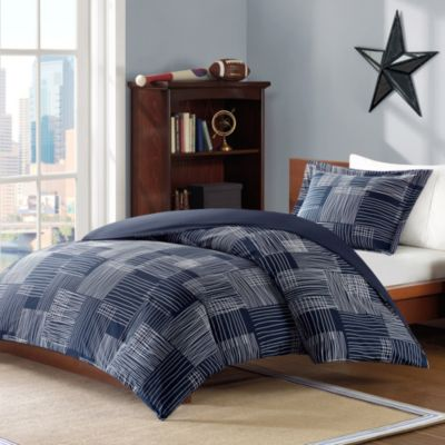 Blue Duvet Cover with Shams