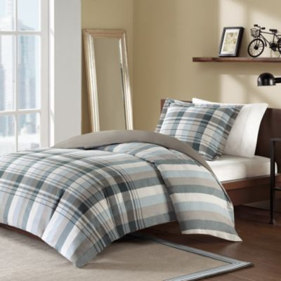 Holden Twin Reversible Duvet Cover and Sham Set