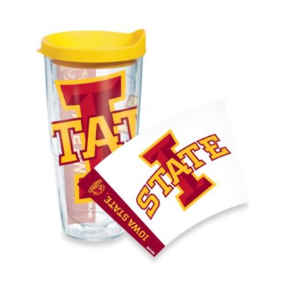 Tervis® Iowa State 24-Ounce Wrap Tumbler with Yellow Lid