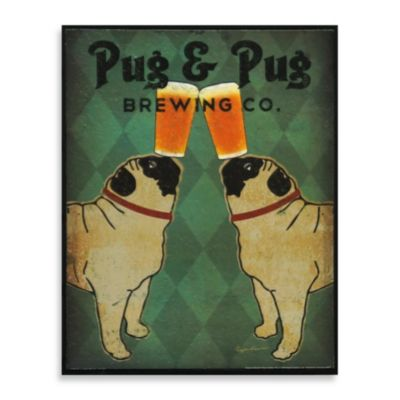 Brew Dogs Wall Art Pug & Pug