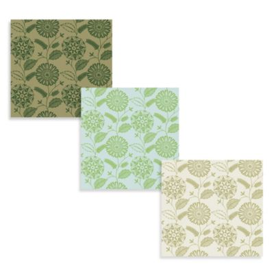 Echo Design™ Modern Floral Print Wallpaper in Green