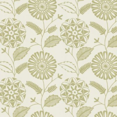 Echo Design™ Modern Floral Print Wallpaper Sample in Beige