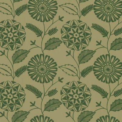Echo Design™ Modern Floral Print Wallpaper Sample in Brown
