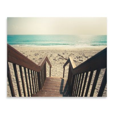 Beach Stairs Photo Wall Art