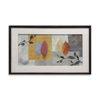 Grey Leaves Collage Wall Art