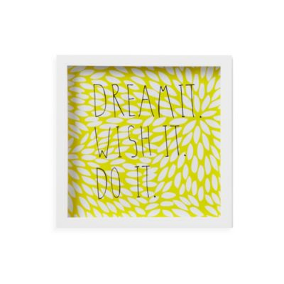 Umbra® Motto Wall Decor in Yellow