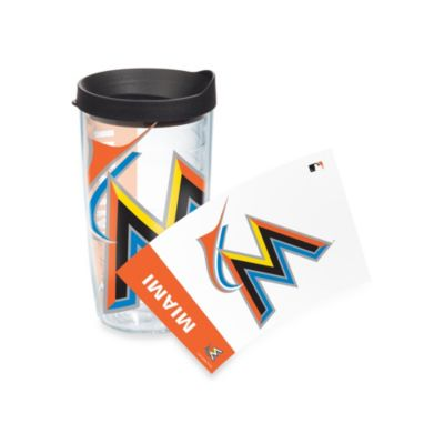 Tervis® Miami Marlins 16-Ounce Colossal Wrap Tumbler with Black Lid