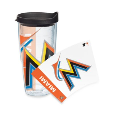 Tervis® Miami Marlins 24-Ounce Wrap Tumbler with Black Lid