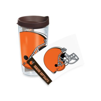 Cleveland Browns Wrap Tumbler with Brown Lid