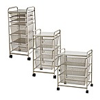 Rolling Metal Cart with Drawers