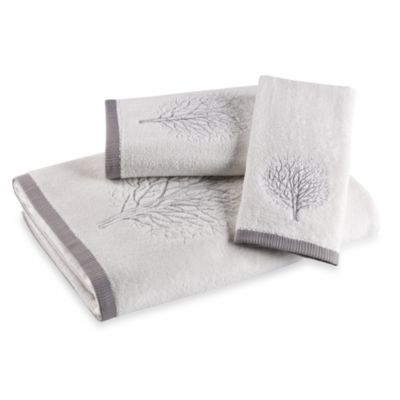 White Silver Fingertip Towel
