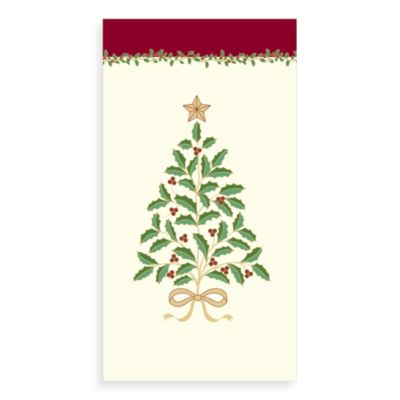 Holly Tree Guest Towels (Set of 16)