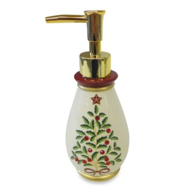 Holly Tree Lotion Dispenser by Saturday Knight Limited