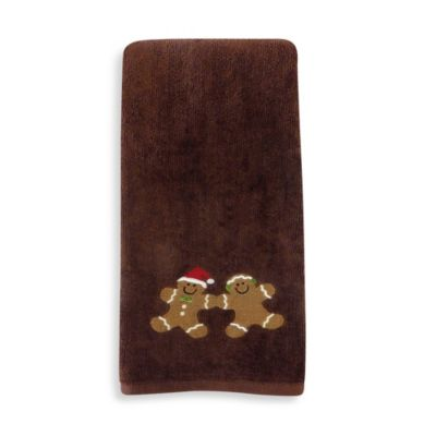 Gingerbread Hand Towel (Set of 2) by Saturday Knight Limited