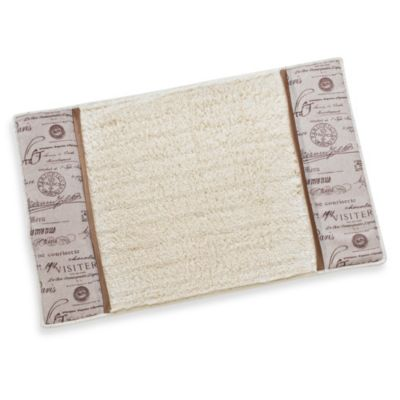 Edwardian Script Natural Bath Mat