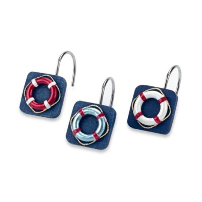 Avanti Life Preservers II Shower Curtain Hooks (Set of 12)