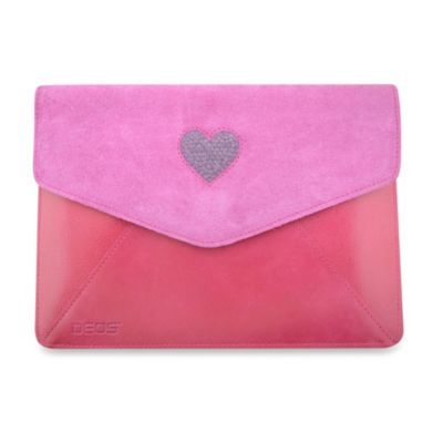 DEOS Leather & Crystal iPad® Mini Envelope Case in Pink