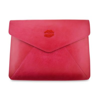 DEOS Leather & Crystal iPad® Envelope Case in Pink
