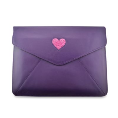 DEOS Leather & Crystal iPad® Envelope Case in Purple