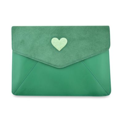 DEOS Leather & Crystal iPad® Mini Envelope Case in Green