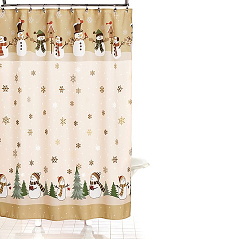 heartland snowman 70 inch x 70 inch shower curtain and hook set. Black Bedroom Furniture Sets. Home Design Ideas