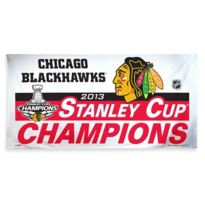 Chicago Blackhawks 2013 Stanley Cup Champions Beach Towel