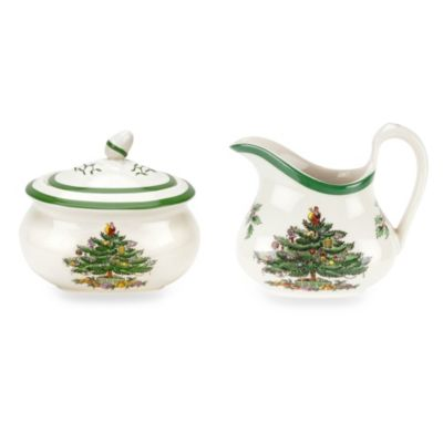 Spode® Christmas Tree Sugar and Creamer Set