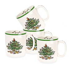 Spode® Christmas Tree Mugs (Set of 4)