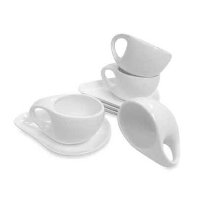 Carmona Micky Espresso Cups and Saucers (Set of 4)