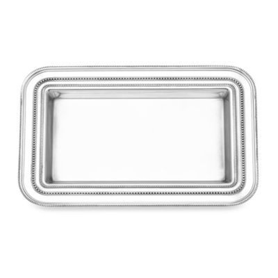 Reed and Barton Heritage Collection Small Banded Bead Tray