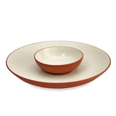 Noritake® Colorwave Terracotta Chip and Dip 2-Piece Set