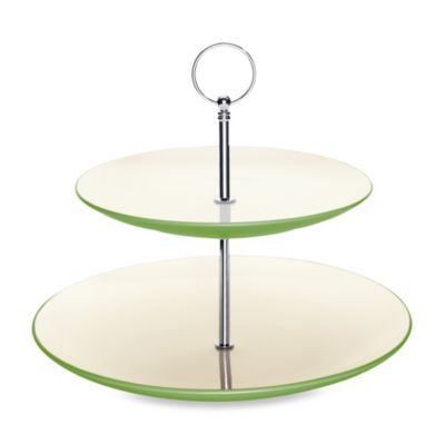 Noritake® Colorwave Apple 10 7/8-Inch Two-Tier Hostess Tray
