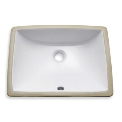 Avanity Rectangular Vitreous 20-Inch Undermount Sink in White
