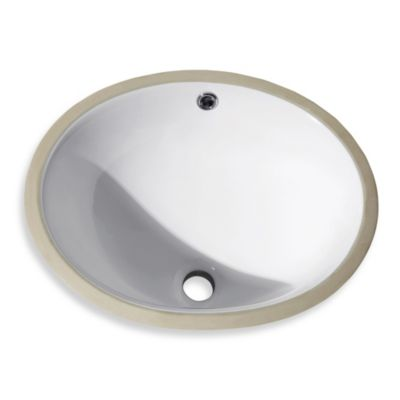 Avanity Oval Vitreous 16-Inch Undermount Sink in White