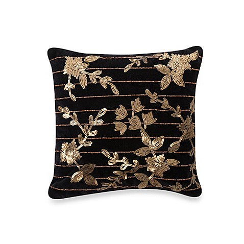 Waterford® Ormonde Toss Pillow in Black and Gold
