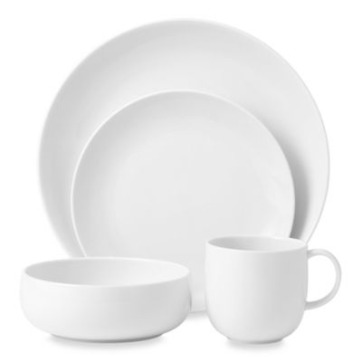 Royal Doulton® Mode White 4-Piece Dinnerware Set