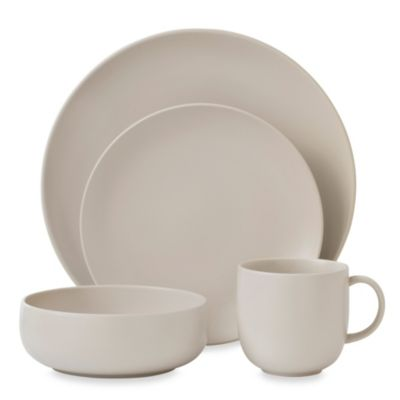 Royal Doulton® Mode 4-Piece Dinnerware Set in Putty