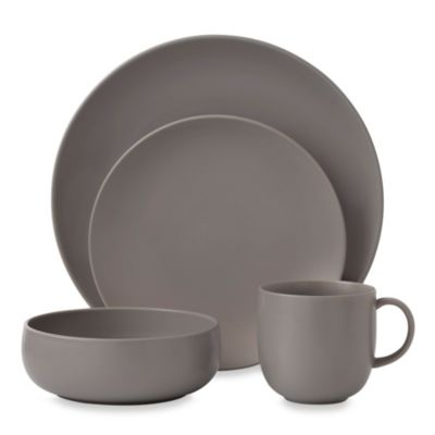 Royal Doulton® Mode 4-Piece Dinnerware Set in stone