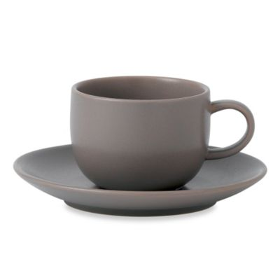 Royal Doulton® Mode Espresso Cup and Saucer Set in stone