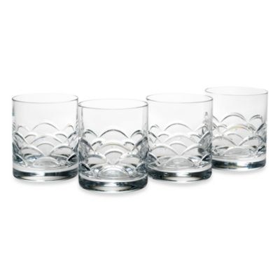 Reed & Barton Cove 12-Ounce Double Old-Fashioned Glasses (Set of 4)
