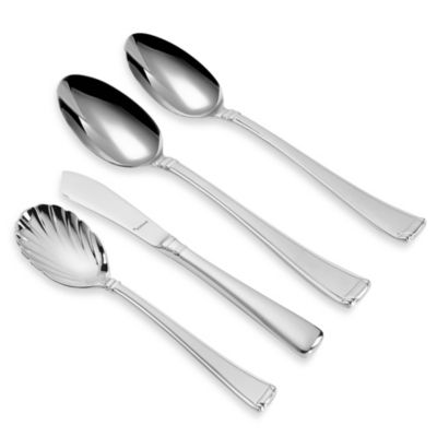 Lenox® Gorham® Column Frosted™ Flatware 4-Piece Serving Set