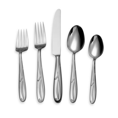 Mikasa Cocoa Blossom 75-Piece Service for 12 Flatware Set