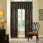 Waterford® Ormonde Tailored Valance in Black and Gold