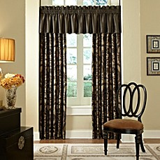 Waterford® Ormonde Pole Top Drapery in Black and Gold
