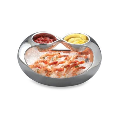 Nambe Infinity Double Dip Serving Bowl