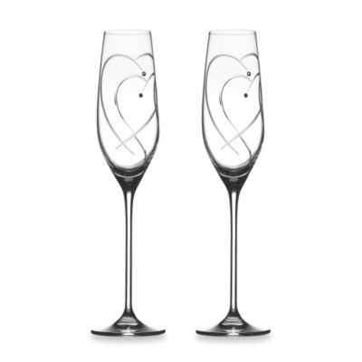 Royal Doulton Two Hearts Entwined Flutes (Set of 2)