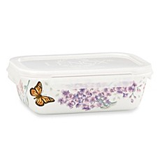 Lenox® Butterfly Meadow® 7.75-Inch Rectangular Serve & Store Container with Lid